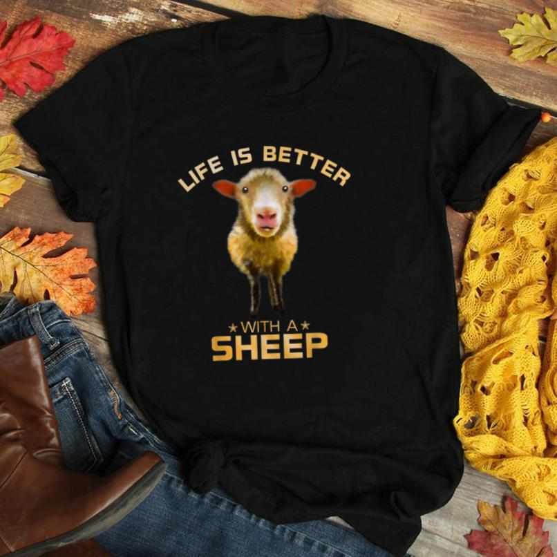 Colorful Life Is Better With A Sheep Cute Farm Animal Lover T Shirt