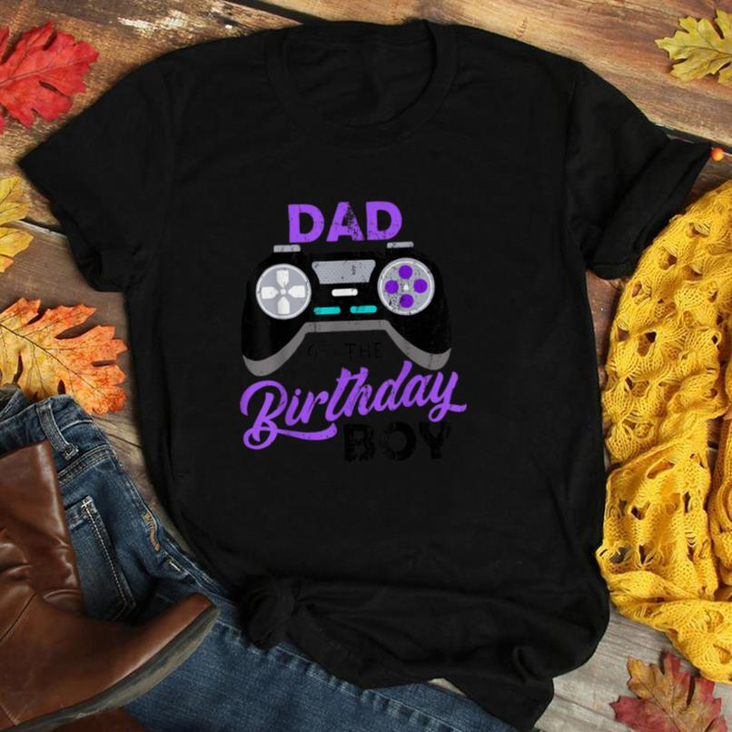 Dad Of The Birthday Boy Funny Video Gamer Gift For Him Men T Shirt