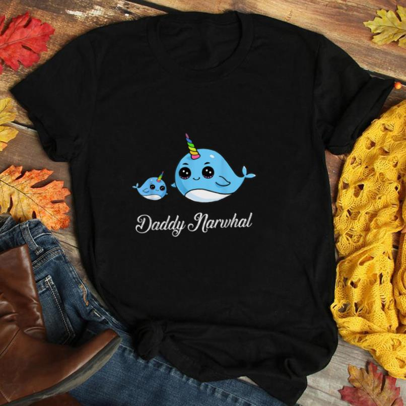 Daddy Narwhal Shirt Cute Narwhal Gift for Fathers T Shirt