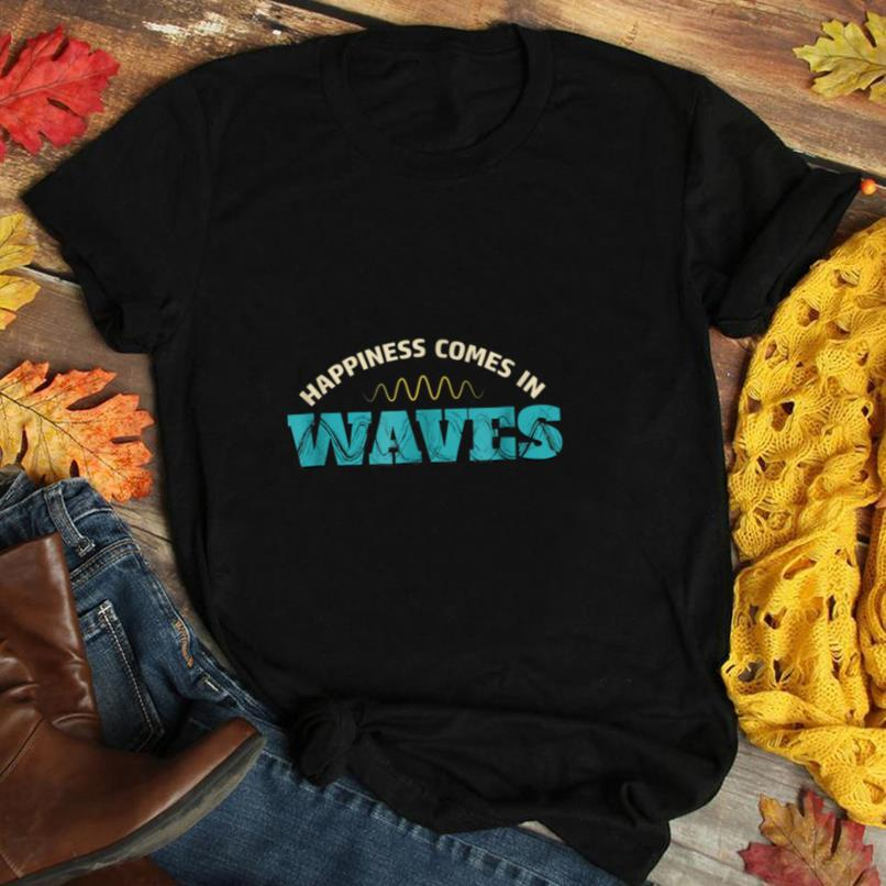 Funny Men's Happiness Comes in Waves Ham Radio T Shirt
