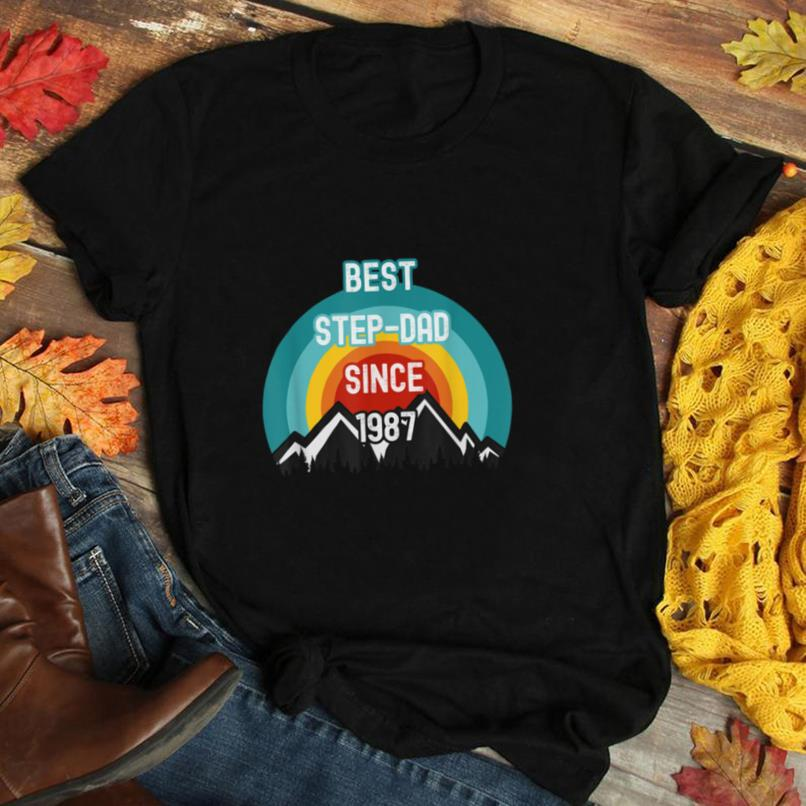 Gift For Step Dad, Best Step Dad Since 1987 T Shirt