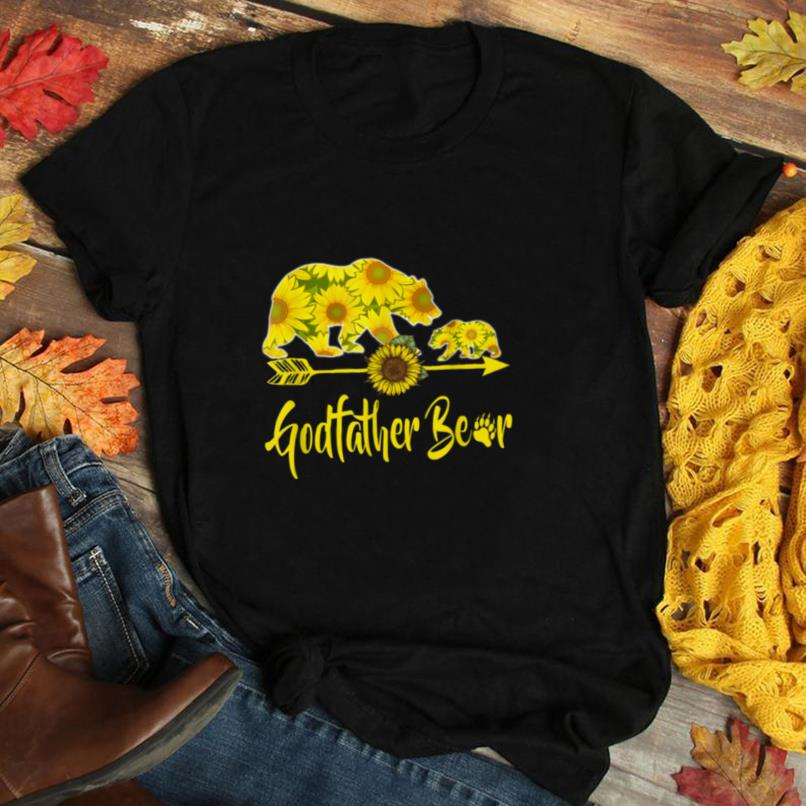 Godfather Bear Sunflower T Shirt Funny Mother Father Gifts T Shirt