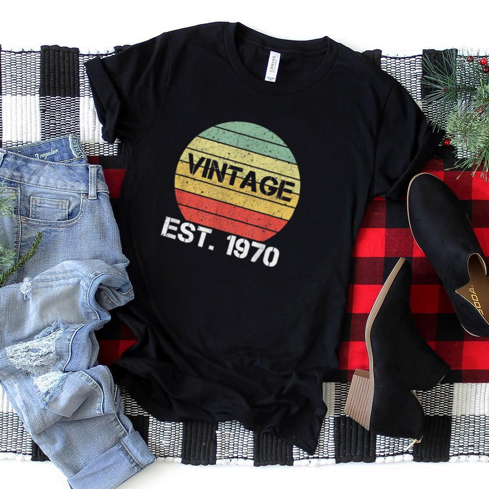 Great Vintage Established 1970 Awesome 50th Birthday Gift T Shirt