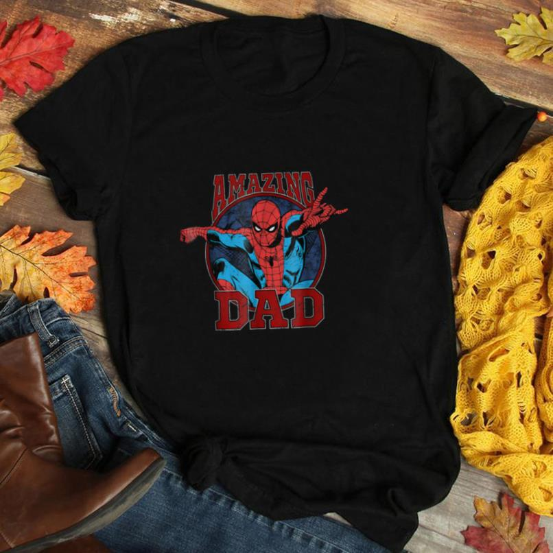 Marvel Spider Man Father's Day Amazing Dad Graphic T Shirt