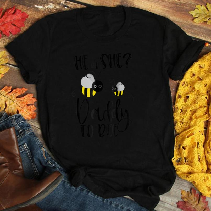 Mens Daddy Shirt What Will It Bee Gender Reveal He or She Tee