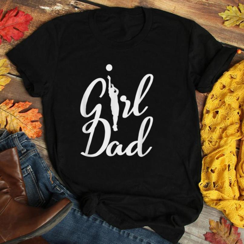 Mens Girl Dad Volleyball Dad Proud Dad Father's Day Xmas T Shirt