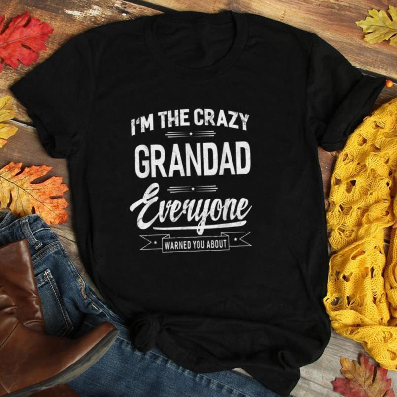 Mens I'm The Crazy Grandad Father's Day Gift T shirt Men