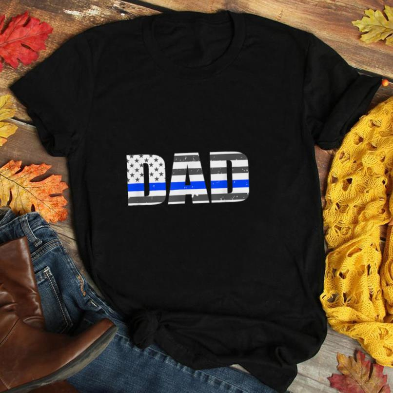 Mens Police Dad Gift   Thin Blue Line Flag   Police Officer T Shirt