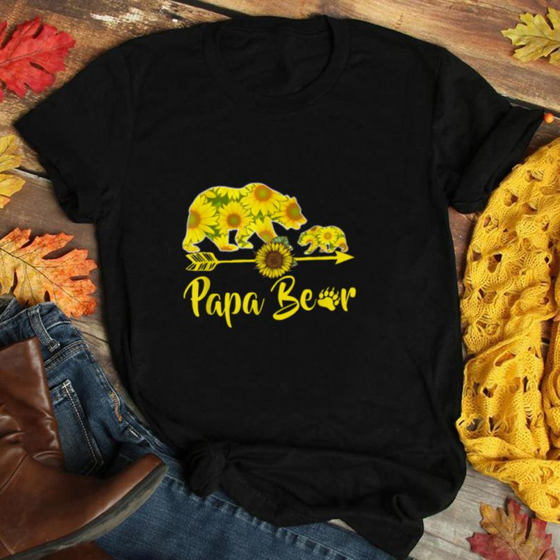 Papa Bear Sunflower T Shirt Funny Mother Father Gifts T Shirt