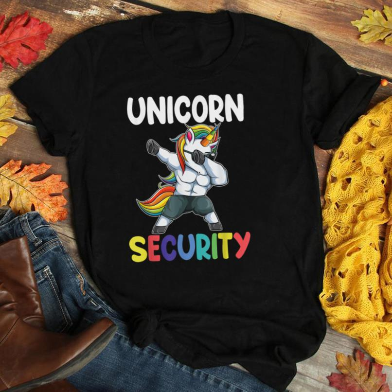 Unicorn Security Dad Mom Daughter Adult unicorn costume gift T Shirt
