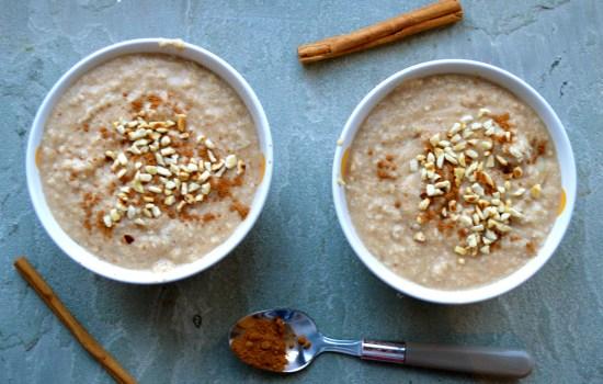 Creamy Macadamia, Apple and Cinnamon Porridge