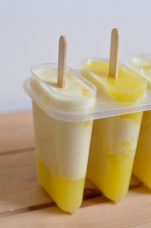 Mango paleo ice lolly