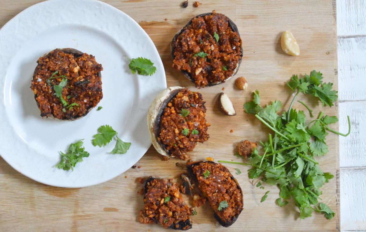 Sun-Dried Tomato Stuffed Portobello Mushrooms