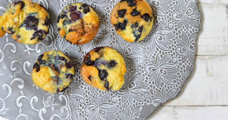 4 Ingredient Blueberry and Nut Butter Muffin Omelettes