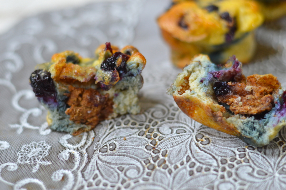 Blueberry and nut butter muffins