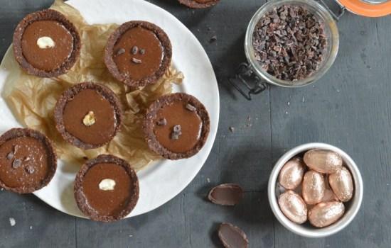 Double Chocolate Hazelnut Cream Nests
