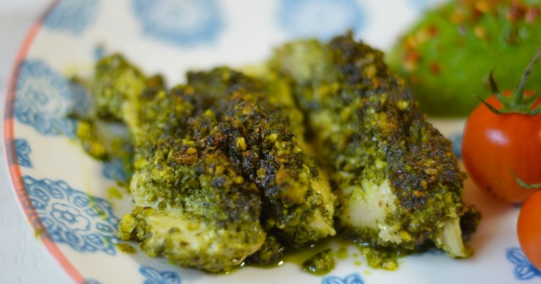 Mrs P's Pesto Baked Chicken