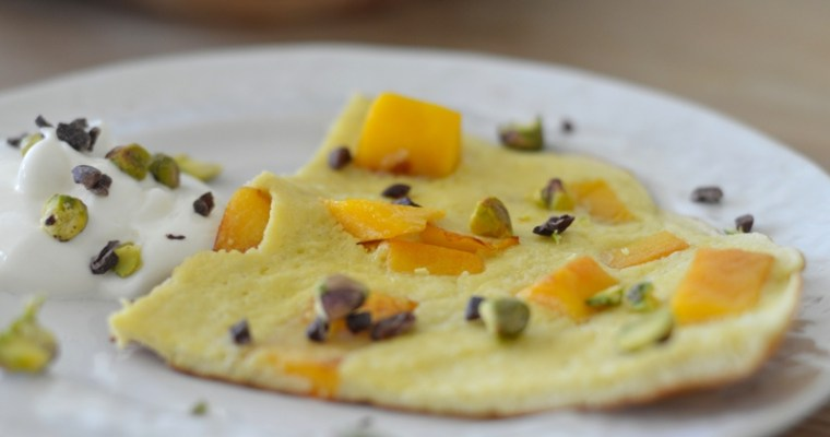 4 Ingredient Mango Breakfast Slice