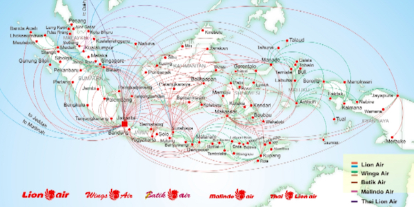 Lion Air Coverage of Indonesia