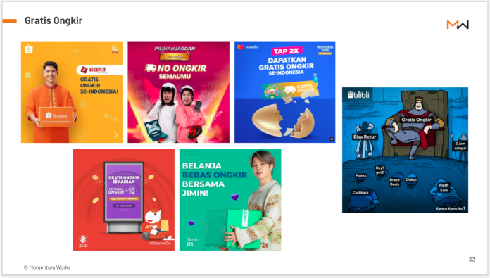 Blooming ecommerce Indonesia briefing - Free shipping