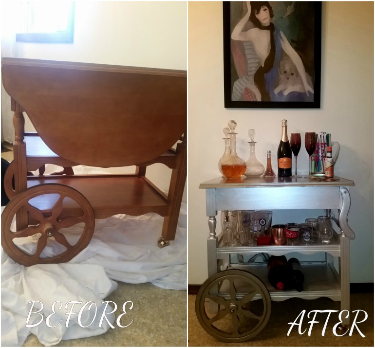 How to make an old tea cart into the bar cart of your dreams!
