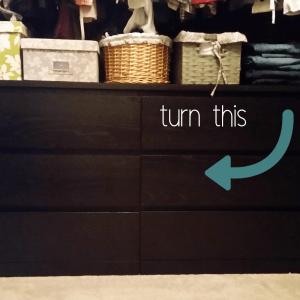 how to IKEA hack a plain dresser
