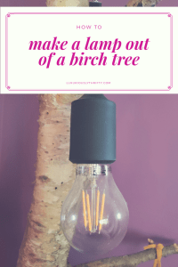 How to make a lamp out of an old birch tree   Luxuriously Thrifty