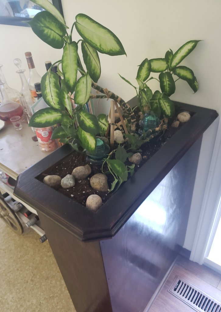 how to update your 70s style planter into something a little more modern | Luxuriously Thrifty