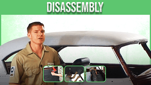 Disassembly upholstery course