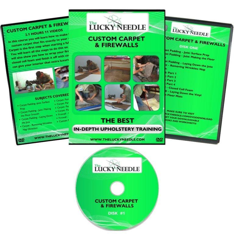 Custom Carpet & Firewalls Course Upholstery Training DVD