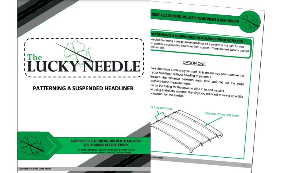 Patterning a Suspended Headliner Ebook  for Upholstery Training DVD's