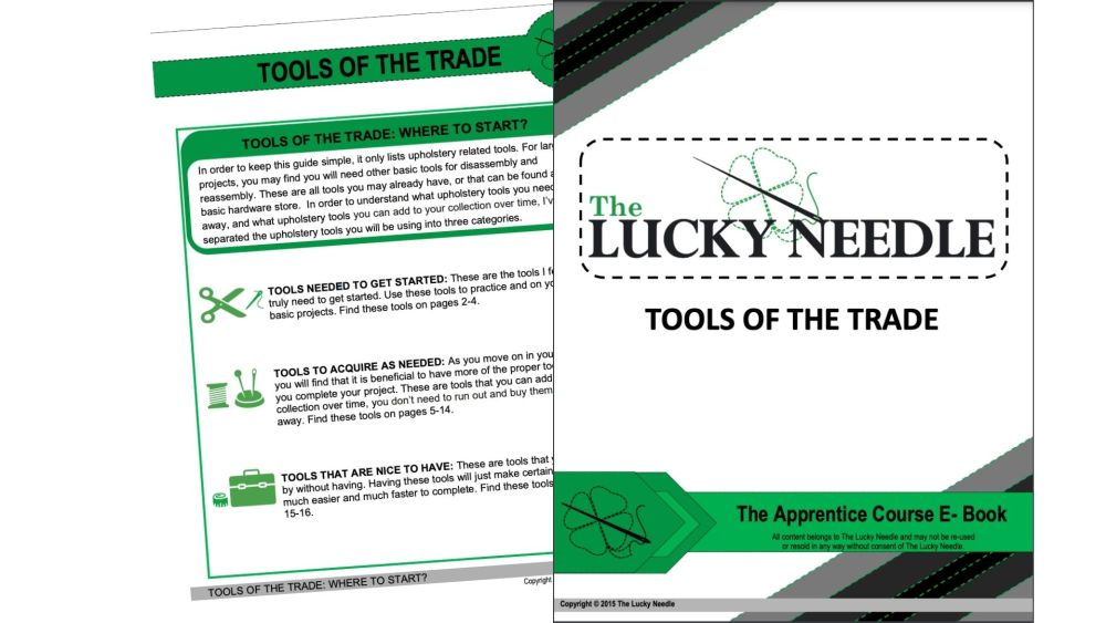 Tools of the Trade Ebook for Upholstery Training DVD's