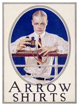 Arrow Shirts advertisement, United States, early 1920's, by J-C Leyendecker