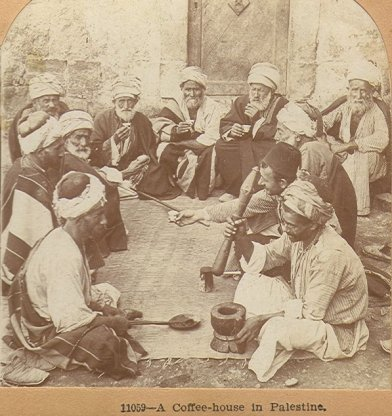 Coffee house in Palestine, 1900