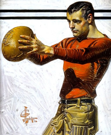 The Football, 1915, by J-C Leyendecker
