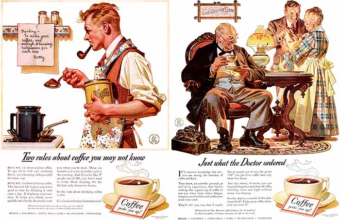 Coffee (1940s) by J-C Leyendecker