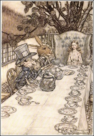 Alice in Wonderland, by Arthur Rackham, A Mad Tea-Party