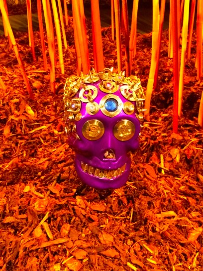 Purple Yorick sculptural handbag by Michelline Syjuco