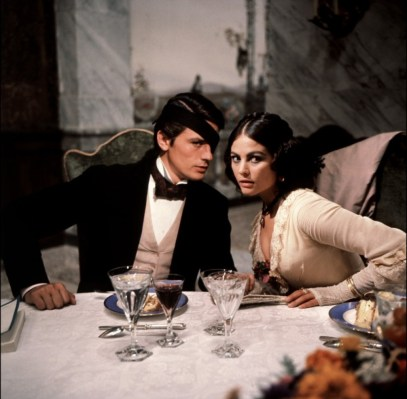 Claudia Cardinale and Alain Delon in Il gattopardo directed by Luchino Visconti, 1963