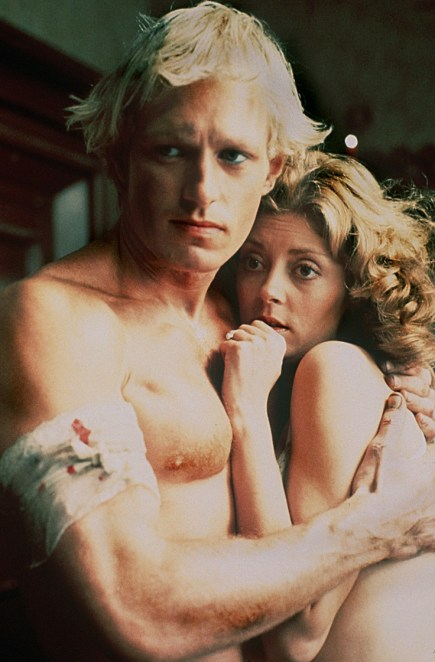 Susan Sarandon and Peter Hinwood in 'Rocky Horror Picture Show'