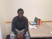 Former HSU athlete comes to U.S. From Mali for education. Photo | Danny Dunn