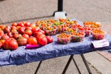Assortment of tomatoes from one of the stands.   Photo by Lauren Shea