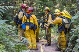 Arcata District Fire Fighters, Arcata Fire September 14. Photo by Ian Benjamin Finnegan Thompson