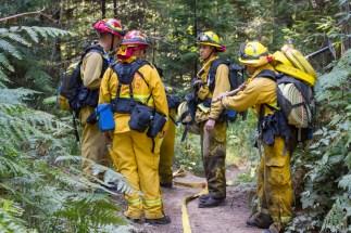 Arcata District Fire Fighters, Arcata Fire September 14. Photo by Ian Benjamin Finnegan Thompson