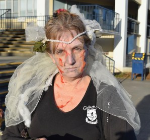 Kelly Urban, owner of Gallagher's Irish Pub in Eureka, decided to haunt her own city in the annual Zombie Walk on Oct. 7.