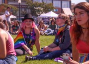 Sophia Escudero attended Humboldt pride at the Arcata Plaza. | Kyra Skylark