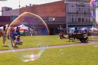 Bubbles at Humboldt pride. | Kyra Skylark