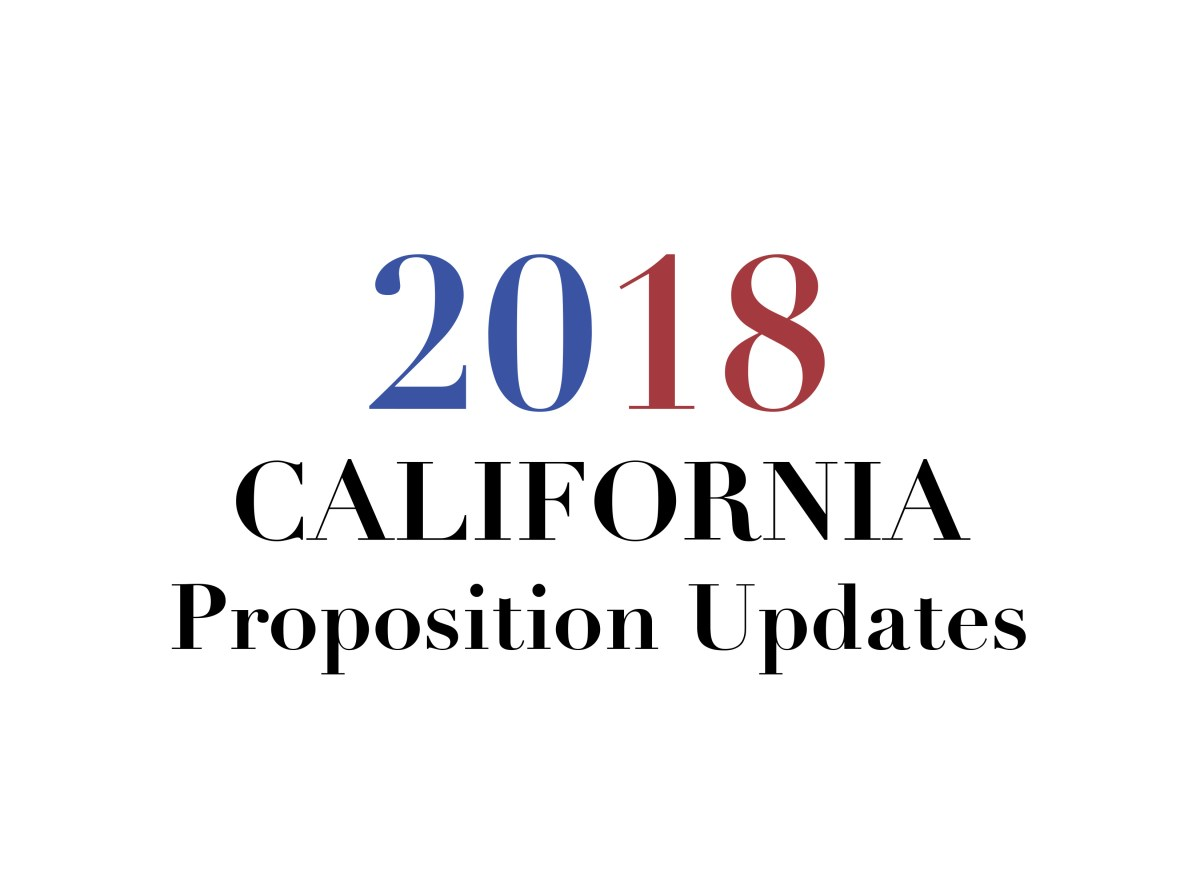 2018 California Proposition Results