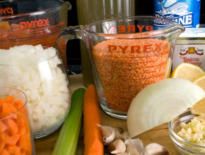 Curried Tomato and Red Lentil Soup Ingredients