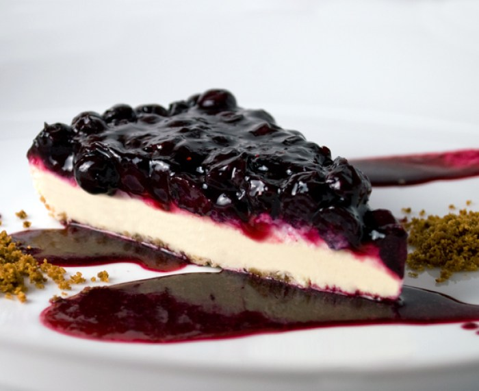 Blueberry, Lime & Rose Petal Cheesecake | LunaCafe